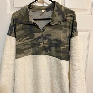Camo teddy bear sweater